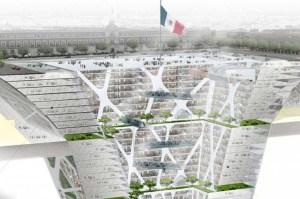 Skyskrapa uppoch ner-Mexico